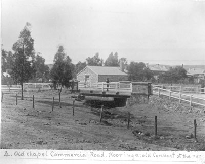 1880s photograph Burra Commercial Street Bridge