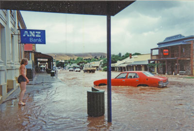 1995 Flood in Commercial Street, Burra