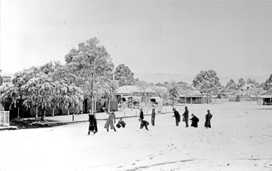 Market Square,Burra, during the 1901 Snow storm