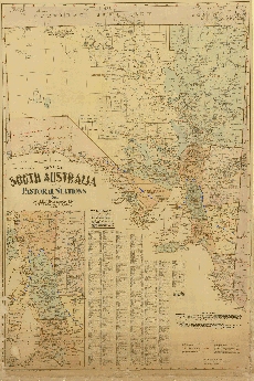 1920-29  Map of South Australia showing Pastoral Stations and an accurate Goyder's Line