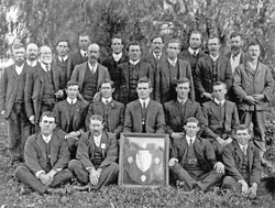 Aberdeen Football Club Premiers of the Burra Football Association 1912.