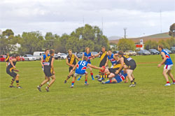 Football has been played on the oval at Burra since 1884