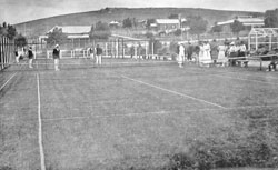 The opening day in 1920 of the lawn tennis courts at 'Wandillah